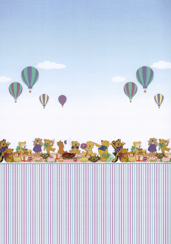 "Tapeta ""Teddy Picnic"" Z/SA/WP538"